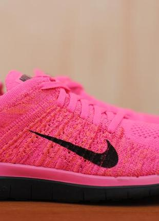 Розовые женские кроссовки nike free 4.0 flyknit, найк флайкнит. 38 - 39 размер. оригинал