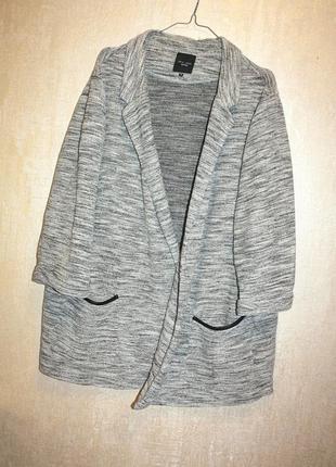 Теплый серый кардиган батал большой размер 26р new look (к000)