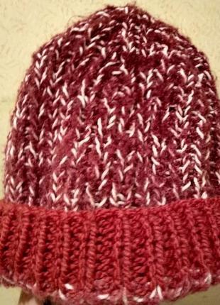 Вязанная шапка, в'язана шапка ручної роботи, handmade