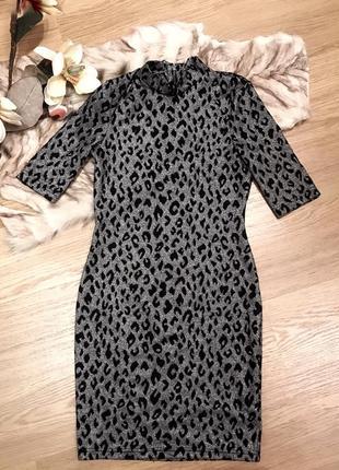 Леопардовое платье topshop