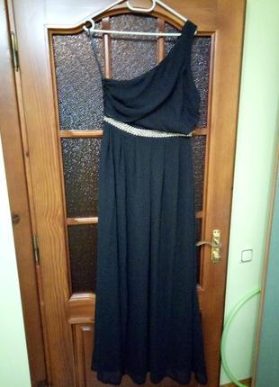 Вечернее платье черного цвета, р 12