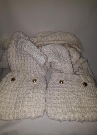 Длиный шарф с кармашками michael kors