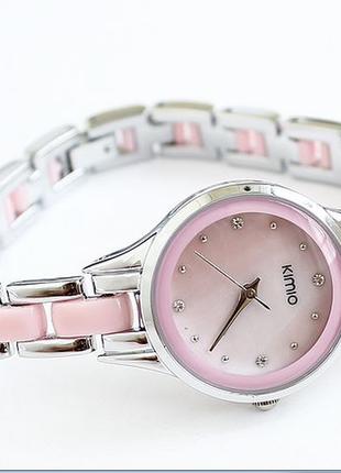 Женские наручные часы kimio  розовые