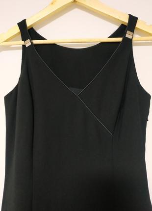 Черное платье, на подкладке, миди