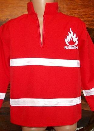 Кофточка для маскарадного костюма пожарного на рост 104см