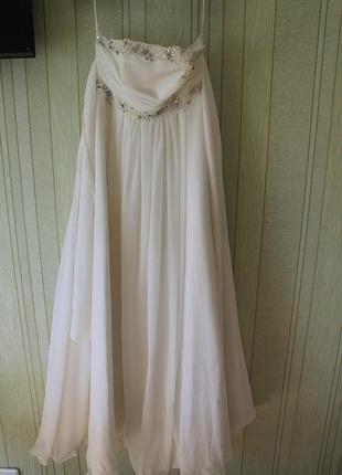 Элегантное платье с дорогой ткани тм tissu-stof р.42-48