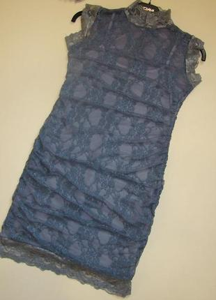 Нарядное кружевное платье xs/s