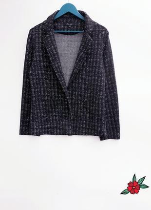 Отличный блейзер пиджак жакет с карманами без застежки