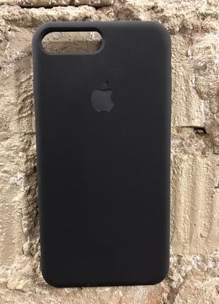 Силиконовый чехол черный на iphone 7+ 8+ plus!