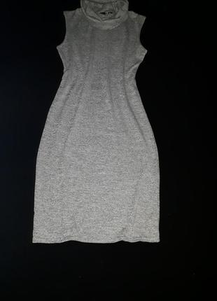 Классное облегающее трикотажное платье миди quiz,англия