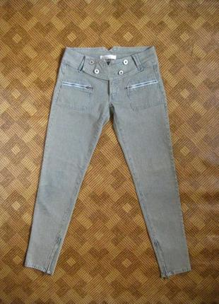 Джинсы, скинни - микрополоска - pepe jeans - 31w/32l - наш 48р.
