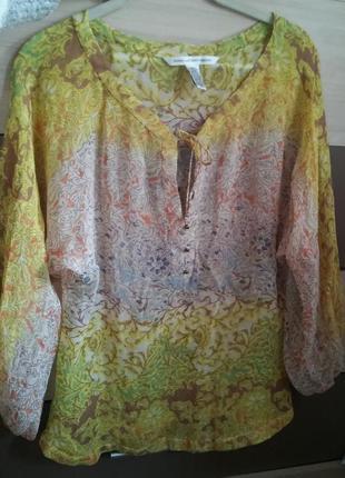 Шелковая блузка diane von furstenberg 44-46 (us 8) на новый год
