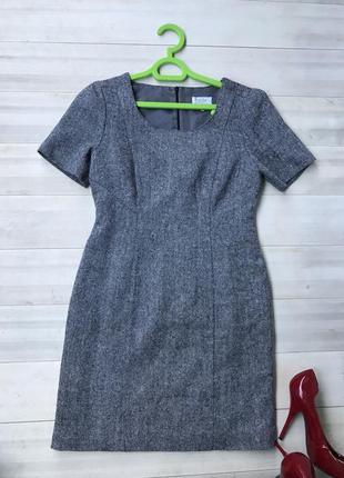 Базовое классическое меланжевое платье
