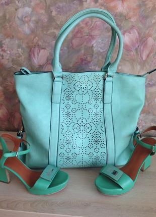 Стильная сумка - шоппер с внутренней сумочкой
