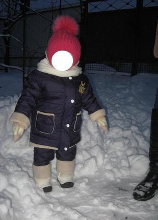 Комплект на девочку зима куртка+полукомбінезон