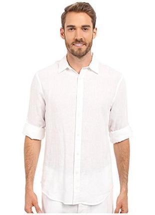 Белая рубашка из льна perry ellis® xl/50-52 размер