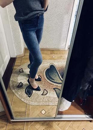 Джинсы скини джинсы с высокой талией