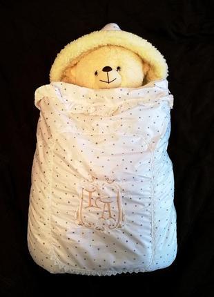 Конверт-одеяло на выписку зимние