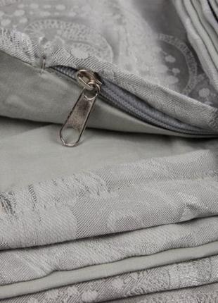 Сатин жаккард viluta рис.1732 серебро, постельное белье премиум класса, евро, семейный2 фото