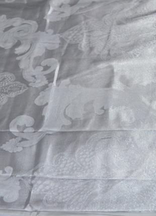 Сатин жаккард viluta рис.1732 серебро, постельное белье премиум класса, евро, семейный5 фото