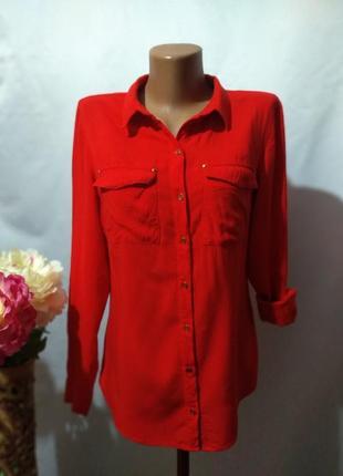 Натуральная блузка рубашка only турция