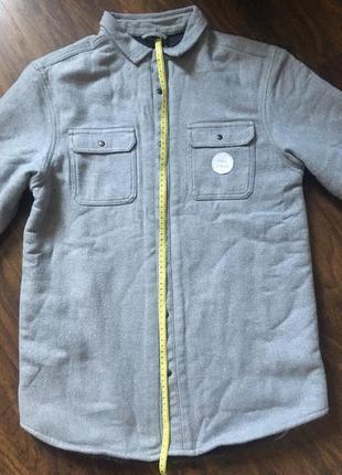 Теплая рубашка курткой на меху на мальчика подростка в школу next3 фото