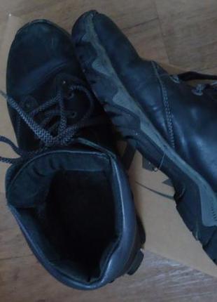 Кожаные зимние ботинки на шнурках