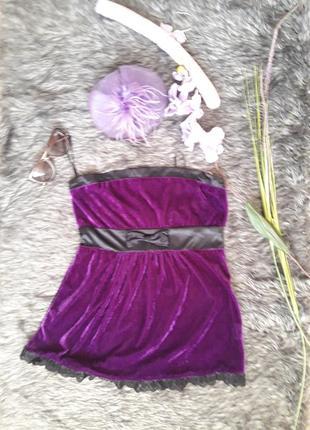 Мини платье из панбархата gennyfer diva's party