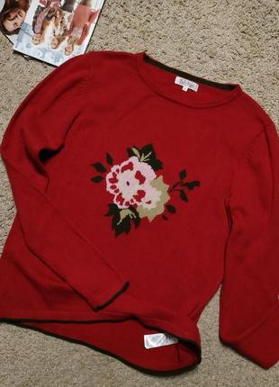 Tulchan теплый натуральный (шерсть и хлопок) свитер с орнаментом