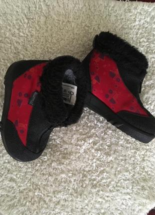 Kuoma зимние детские валенки сапоги ботинки красные
