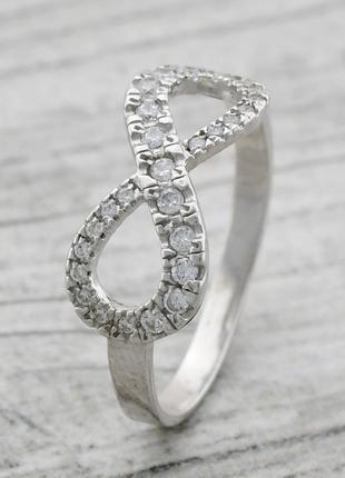 Кольцо серебряное знак бесконечность 1290