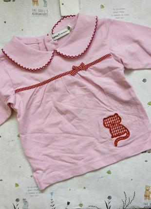 Кофта кофточка свитер с котиком на рост 62 см от name it