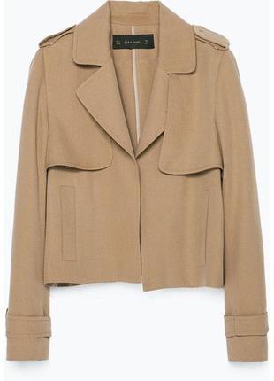 Классный нюдовый блейзер пиджак тренч zara