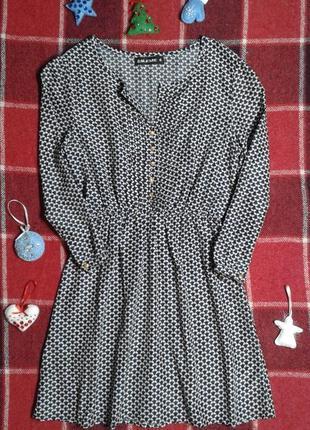 Шелковое легкое платье dileme, рукав 3/4, s/m