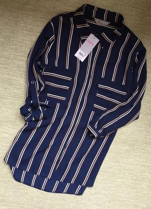 Актуальная рубашка блуза в полоску
