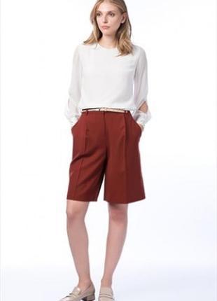 Шерстяные шорты massimo dutti. новые женские кюлоты, шорты до колена