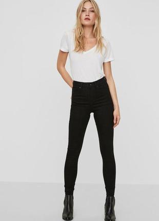 Джинсы skinny fit, high waist