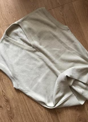 Тёплый мужской свитер / джемпер без рукавов