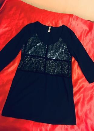 Платье шифон,пайетки