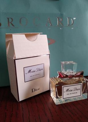 Miss dior eau de parfum.5 мл.оригинал.