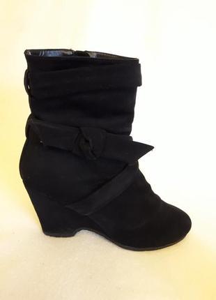 Стильные ботинки на меху фирмы graceland ( германия) р. 38 стелька 24,5 см
