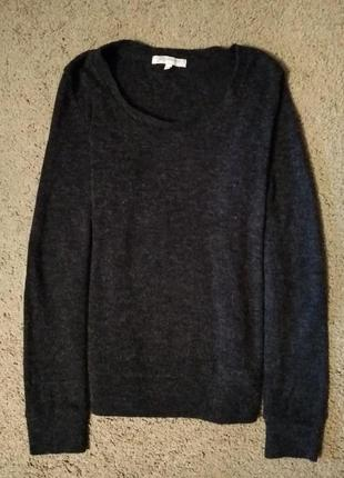Трикотажная кофта с латками на локтях, свитер, джемпер, размер 42-44