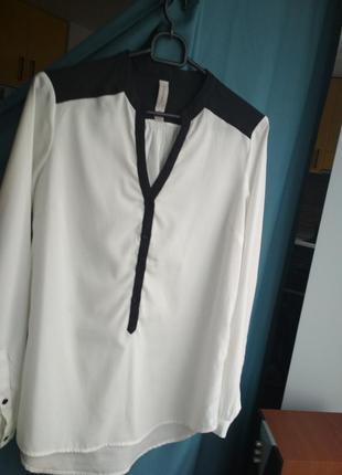 Белая рубашка/блузка/блуза s-m springfield