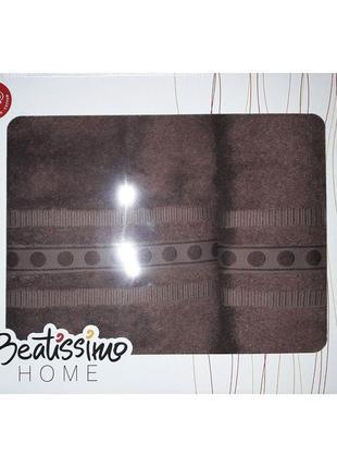 Набор махровых полотенец beatissimo в подарочной коробке