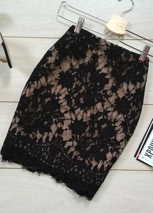 Шикарная кружевная юбка