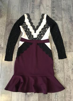 Новое ажурное нарядное вечернее платье на новый год 2019 от river island размер 82 фото