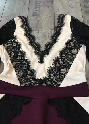 Новое ажурное нарядное вечернее платье на новый год 2019 от river island размер 83 фото