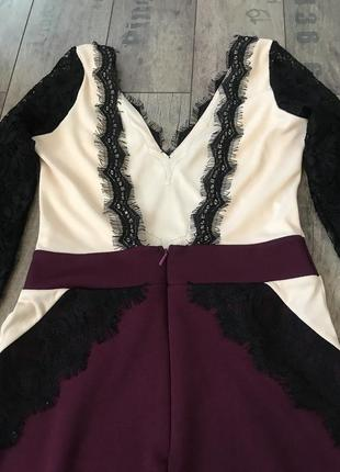 Новое ажурное нарядное вечернее платье на новый год 2019 от river island размер 84 фото