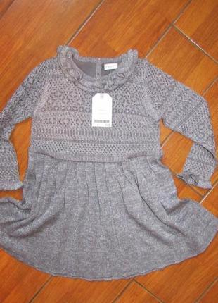 Next нарядное вязаное платье с блестками 1.5-2 года