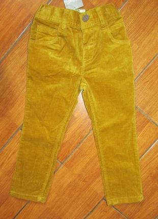 Next вельветовые брюки 1.5-2 года 86-92 см